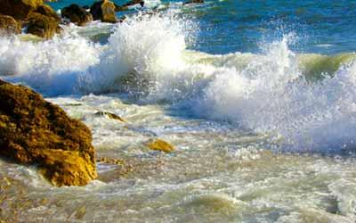 Индейский кемп море