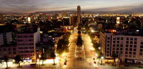 Мехико сити ночью