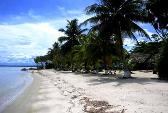 Белый пляж Карибского моря