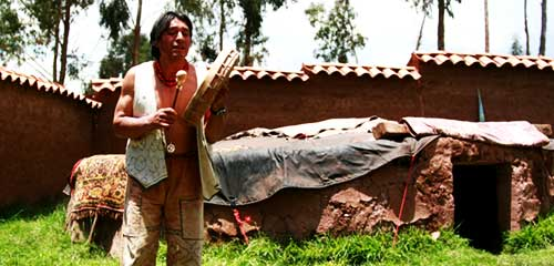 Шаман в Перу церемония Темаскаль