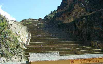 Ольянтайтамбо лестница