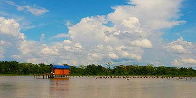 Пукальпа. Дом на озере.